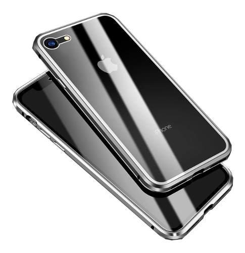 Funda magnetica aluminio 360 cristal frente y atras iphone