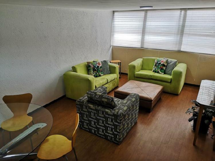 Renta de habitaciones amuebladas con servicios incluídos,