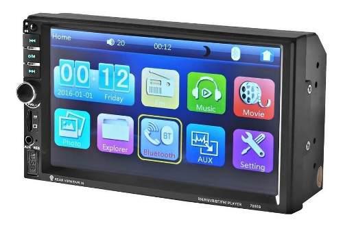 Auto estéreo con pantalla touch 7 pulgadas doble din 7060b