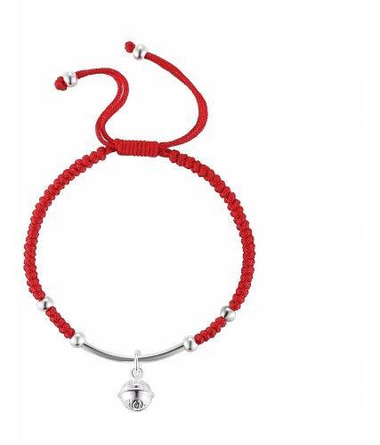 seleccione para mejor gran inventario Donde comprar Campana De Plata Shambala Pulsera Roja De La Suerte Tibetana