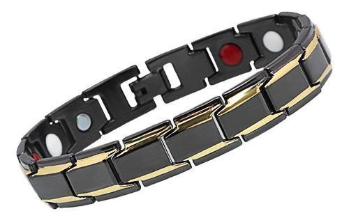 Hombres moda magnética healthcare mano cadena 316l inoxidab