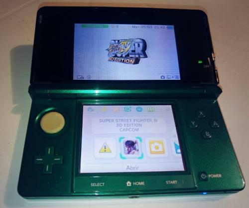 Nintendo 3ds + lapiz + estuche + super street fighter 3d ed