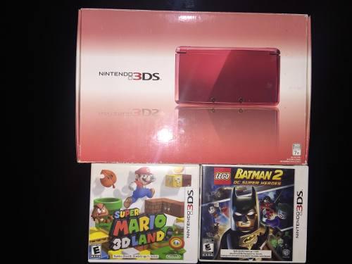 Nintendo 3ds (semi nuevo) con dos juegos incluidos
