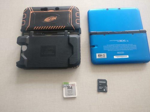 Nintendo xl con funda r4 y memoria de 64gb