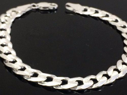 P150 pulso doble vista cubano diamantado y liso en plata925