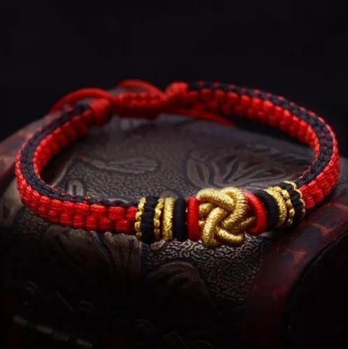 Pulsera tibetana amuleto budista nudo macrame chino