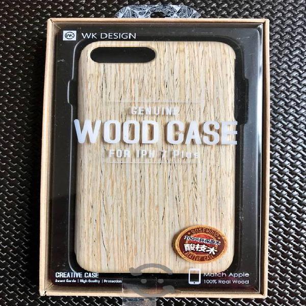 Wood case protector original iphone 8plus nuevo