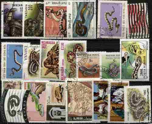 0586 reptiles diferentes países dif lote 21 s usados