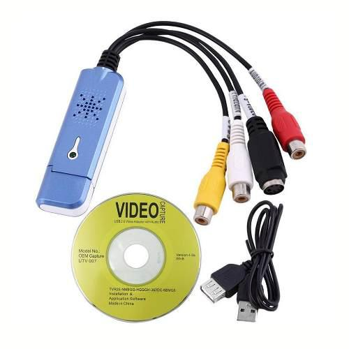 Adaptador para captura de vídeo audio convertidor usb 2.0 p