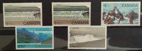 Canada 1977-1982 parques nacionales altos valores impecable