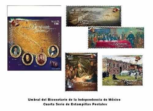 Estampilla umbral bicentenario de la independencia #5
