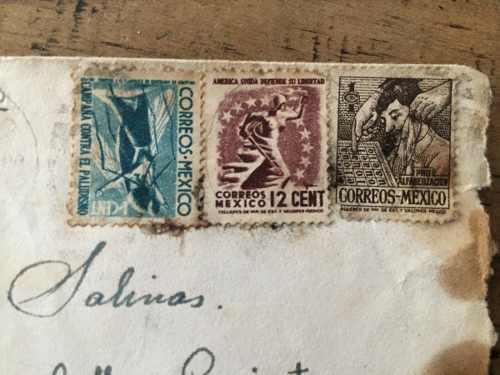Estampillas postales de correos méxico 1945-1946