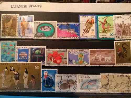 Estampillas postales japón años 70's, envío gratis.