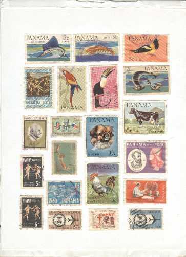 Estampillas postales usadas de panama