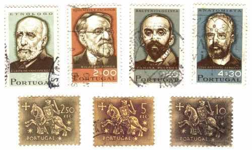 Estampillas postales usadas de portugal