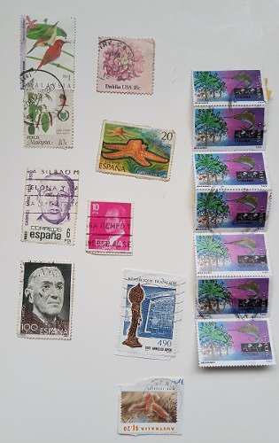 Filatelia estampillas postales varios años y paises