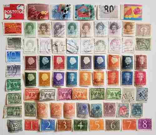Holanda 75 estampillas postales diferentes timbres