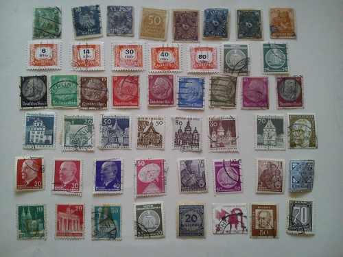 Lote de 200 timbres postales antiguos mundiales 1930-1960