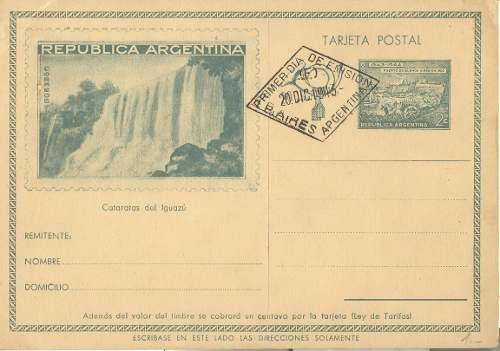 Ta13-argentina 3 tarjetas postales fdc 1943