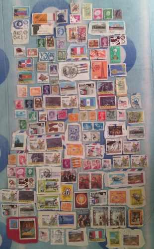 Timbres postales años 74 a 80s diferentes paises v/c