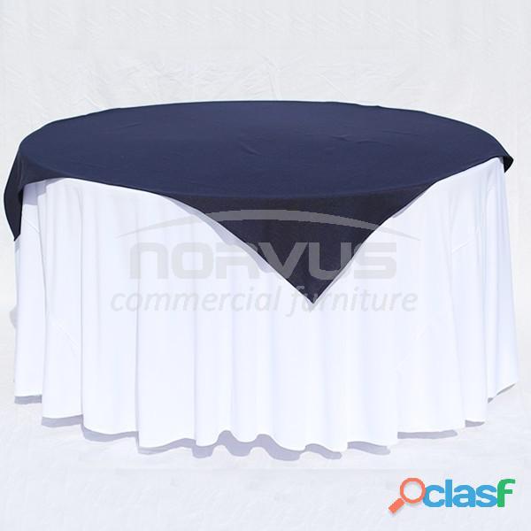 Cubremanteles en tela tafetan blanco o color