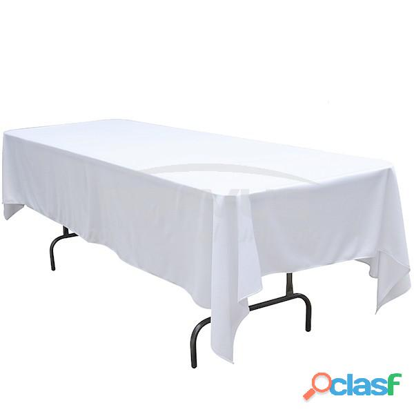 Manteles rectangulares en tela dublin color blanco