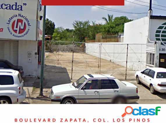 Terreno comercial sobre blvd. zapata