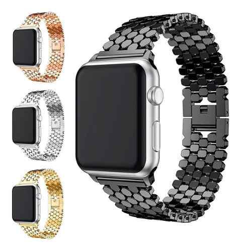 Correa bracelet acero inoxidable para apple watch + regalo