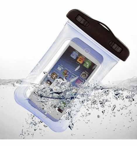 Funda bolsa sumergible contra agua celular iphone 6 galaxy 7