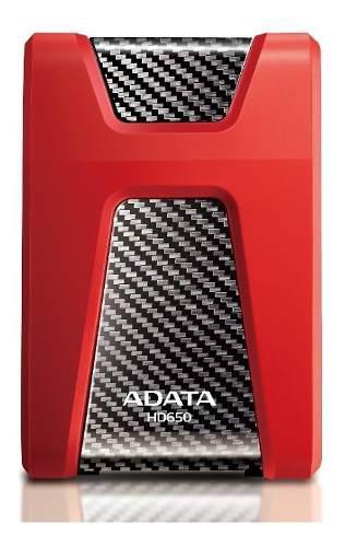 Adata disco duro externo 1tb portatil hd650 antigolpes rojo