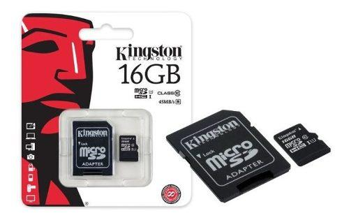 Kingston memoria micro sd 16gb cl 10 sdcs/16gb canvas select