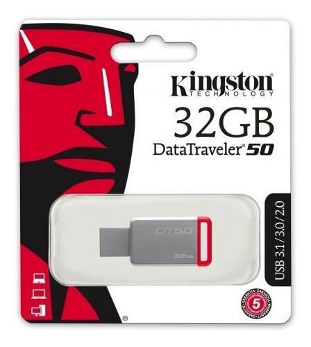 Kingston memoria usb 3.0 32gb alta velocidad dt50/32gb