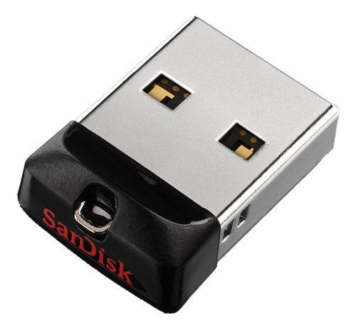 Memoria sandisk 16gb usb 2.0 cruzer fit z33 negro mini