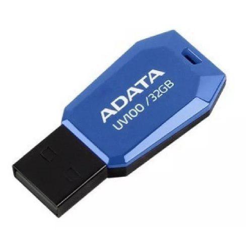 Memoria usb 32gb 2.0 adata uv100 azul delgada nueva mayoreo