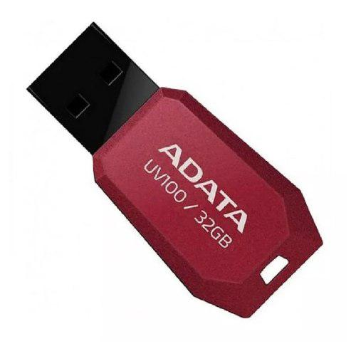 Memoria usb 32gb 2.0 adata uv100 roja nueva portatil mayoreo