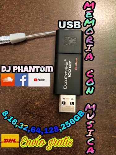 Memorias usb 16 gb con música