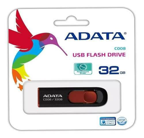 Memorias usb 32 gb adata c008 retractil boton deslizante /a