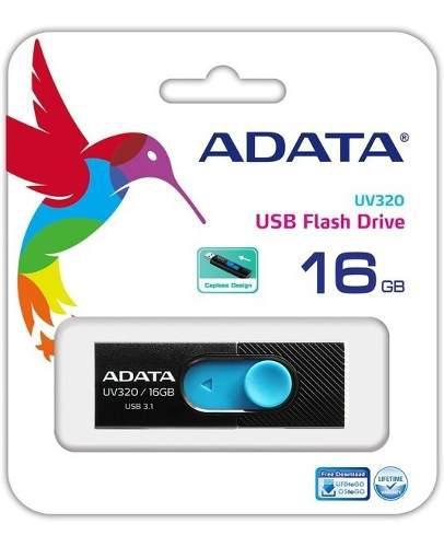 Memorias usb adata 16gb 3.1 uv320 negro - azul
