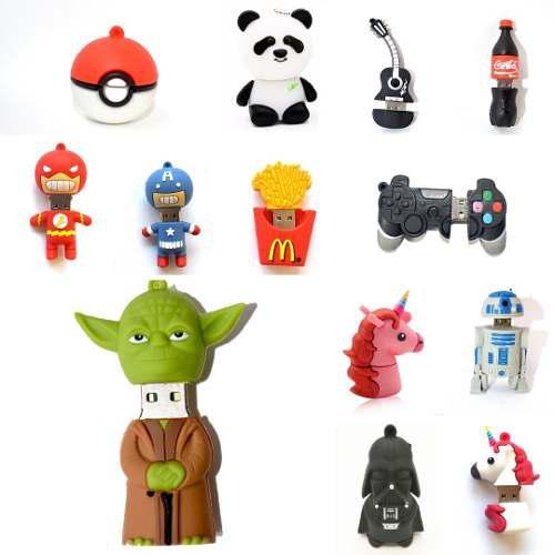 Memorias usb flashdrive 8gb de diferentes personajes