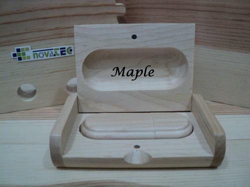Pack de 3 memorias usb 32 gb de madera en estuche de madera