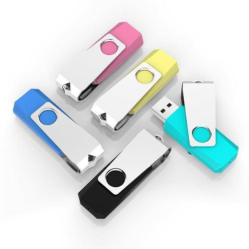 Paquete de 5 memorias flash usb 2.0 topsell 2gb -5 colores