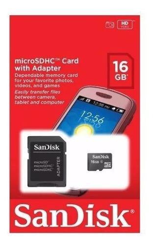 Sandisk micro 16gb clase 4 16misdc4skadap