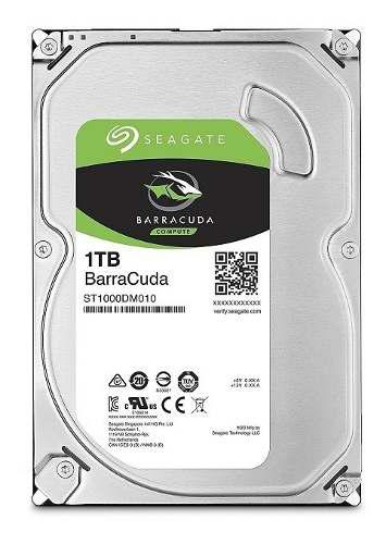 Seagate st1000dm010 disco duro barracuda para pc 1tb sata 6.