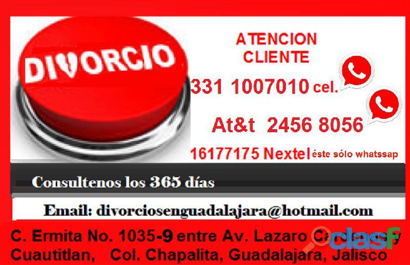 Divorcios al mejor costo en guadalajara|abogada con amplia experiencia