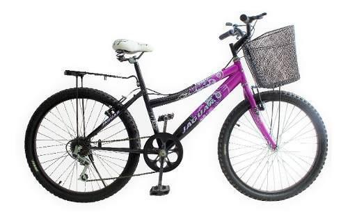 Bicicleta lady áfrica rod 24 equipada 6 vel montaña