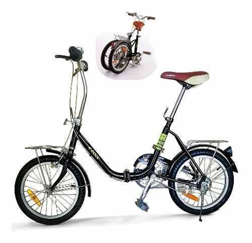 Bicicleta plegable krock r16 ligera retro vintage