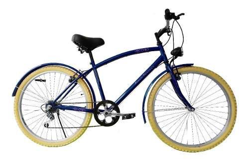 Bicicleta retro urbana r26 caballero lampara led gratis