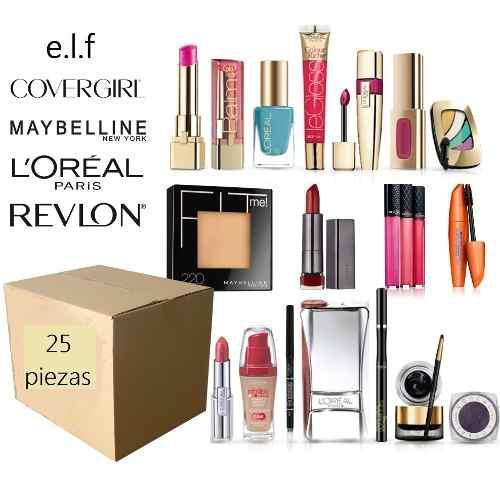 Lote de cosméticos mayoreo 25 piezas, marcas reconocidas