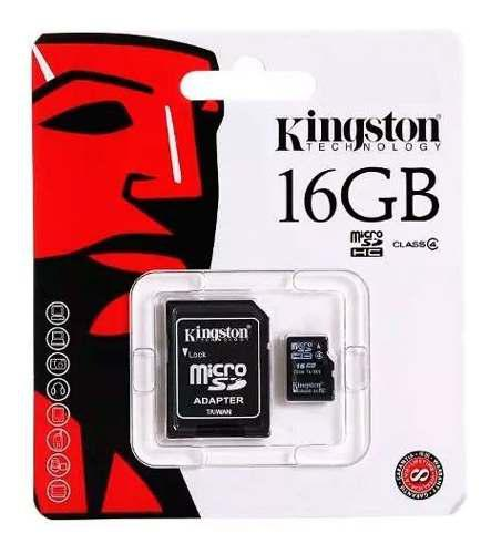 Memoria micro sd 16gb clase 4 kingston adaptador original