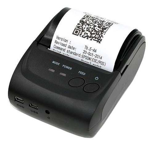 Mini impresora termica portatil usb bluetooth 58mm pos